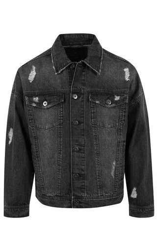 RIPPED DENIM JACKET BLACK (MEN)