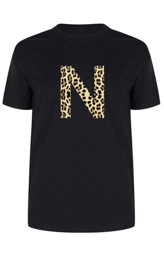 INITIAL LEOPARD TEE