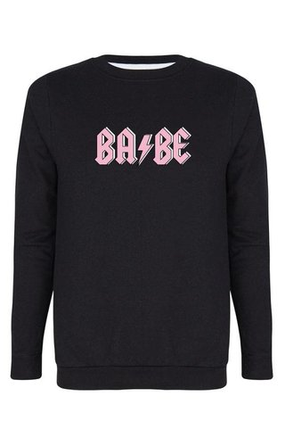 BABE THUNDER SWEATER BLACK