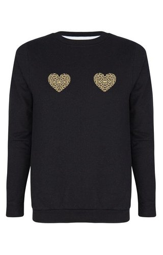 HEARTS LEOPARD SWEATER