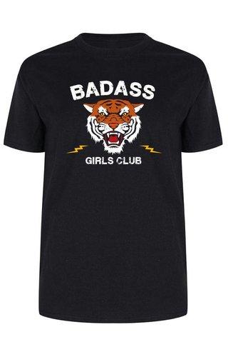 BADASS GIRLS CLUB TEE BLACK