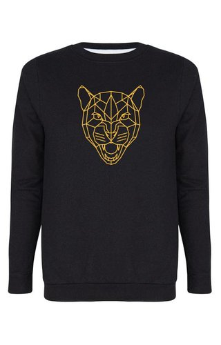 LEOPARD HEAD OCHRE SWEATER