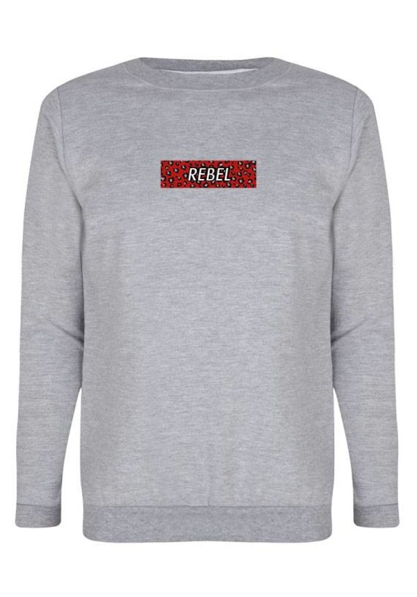 REBEL LEOPARD BOX SWEATER
