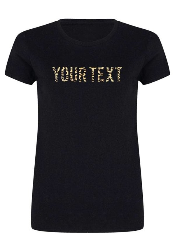 CUSTOM LEOPARD TEXT TEE