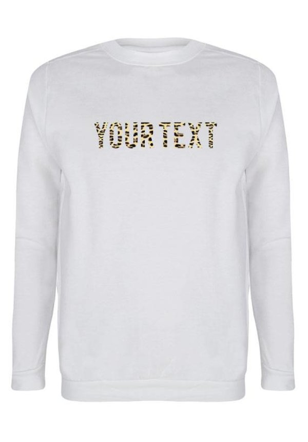 CUSTOM LEOPARD TEXT SWEATER (WMN)