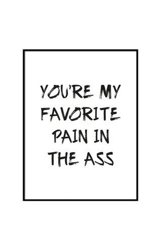 FAVORITE PAIN IN THE ASS POSTER