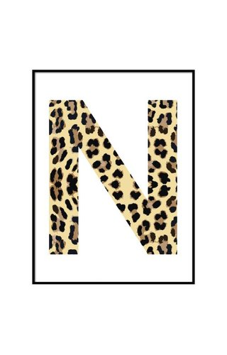 LEOPARD INITIAL POSTER (CUSTOM MADE)