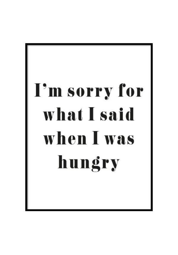 HUNGRY POSTER