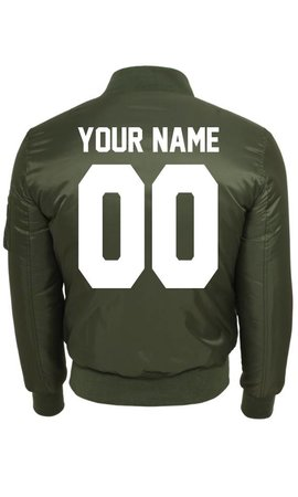 CUSTOM TEAM NUMBER BOMBER JKT (MEN)