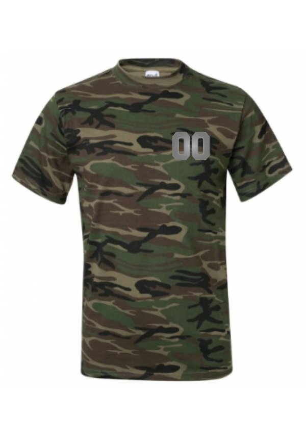 CUSTOM TEAM NUMBER TEE ARMY SILVER EDITION