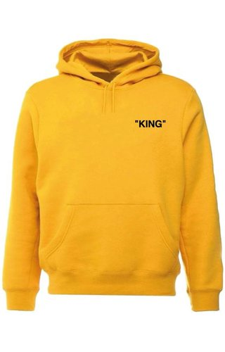 KING QUOTE  HOODIE YELLOW OCHRE