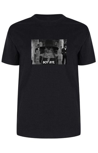 BOY BYE PHOTO TEE BLACK