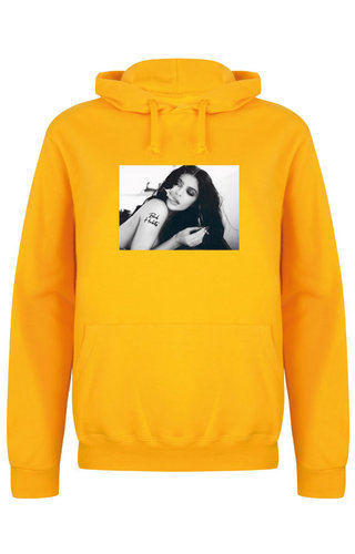 BAD HABITS PHOTO HOODIE YELLOW OCHRE