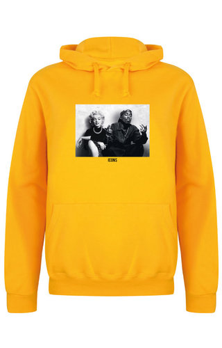 ICONS PHOTO HOODIE YELLOW OCHRE
