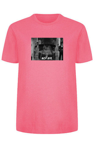 BOY BYE PHOTO TEE NEON PINK