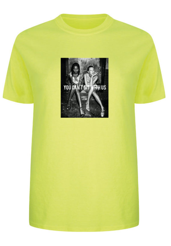 e88ebddbcf YOU CAN'T SIT WITH US PHOTO TEE NEON - SUGAR&spikes