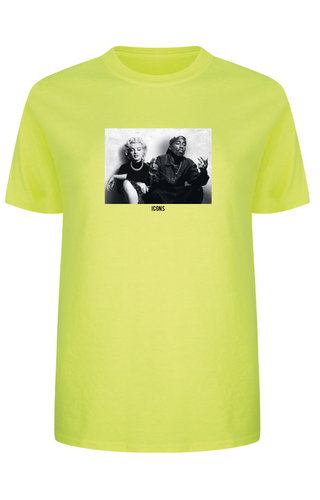 ICONS PHOTO TEE NEON YELLOW
