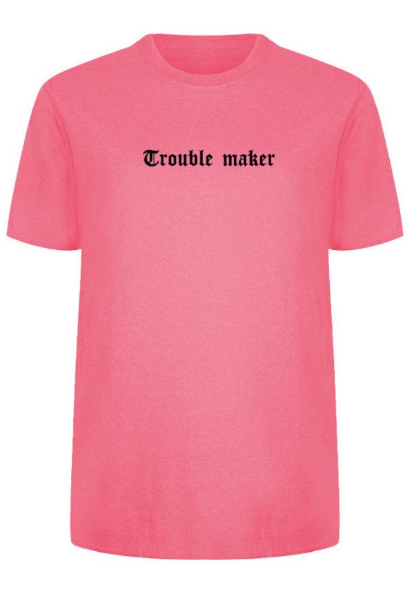 TROUBLE MAKER LA TEE NEON PINK