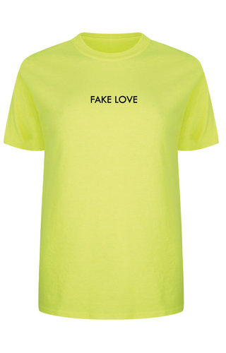 FAKE LOVE TEE NEON YELLOW