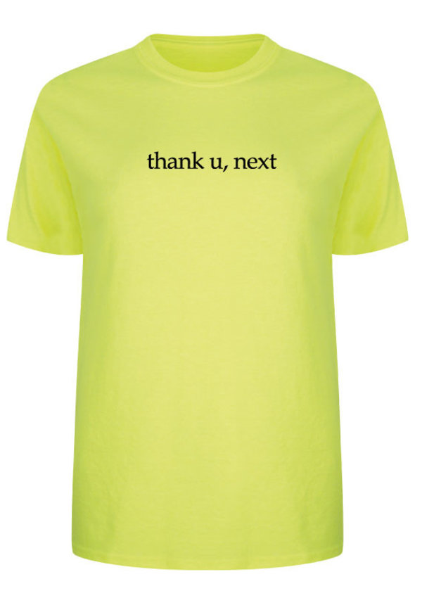 THANK YOU NEXT TEE NEON