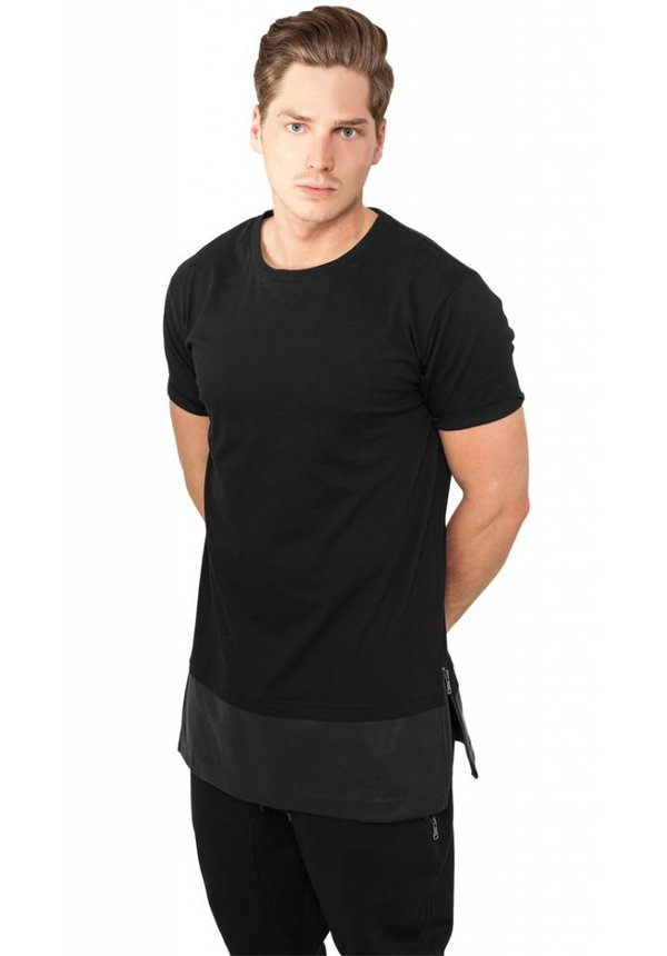 LEATHER BOTTOM LONG TEE (MEN)