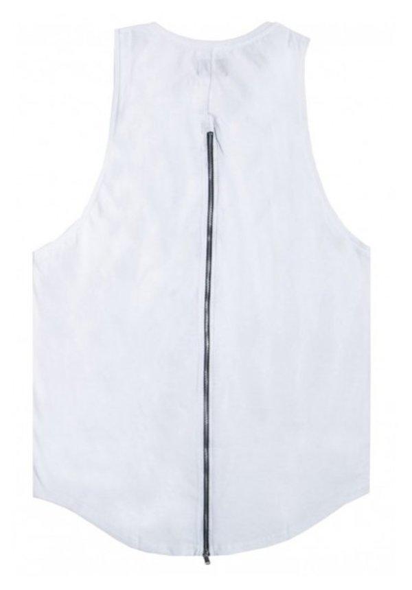ZIPPER LONG TANKTOP WHITE