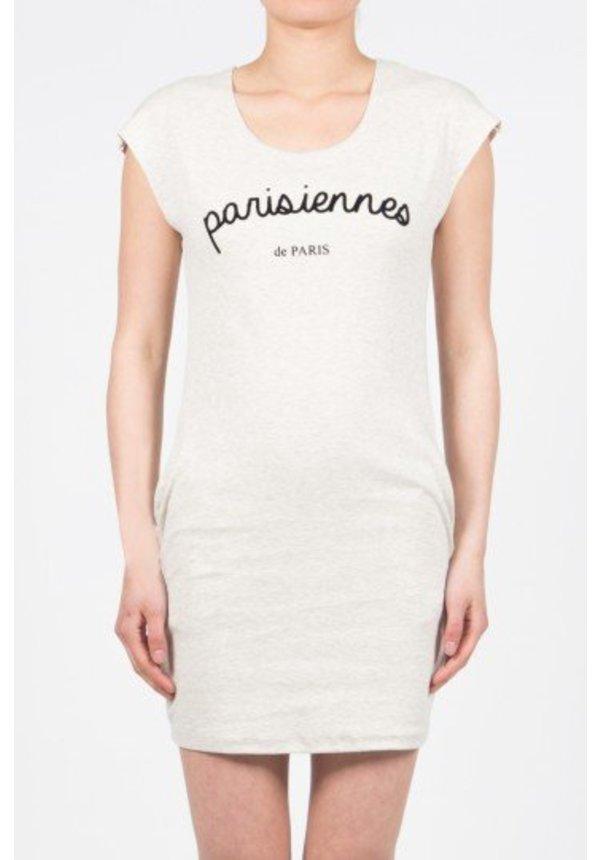 PARISIENNES DRESS LIGHT GREY