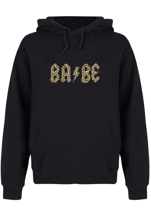 BABE THUNDER LEOPARD HOODIE