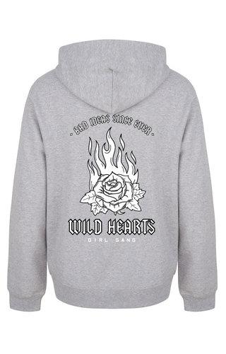 WILD HEARTS HOODIE GREY (GIRL GANG EDITION)