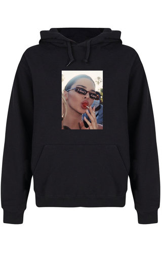 I DON'T CARE PHOTO HOODIE