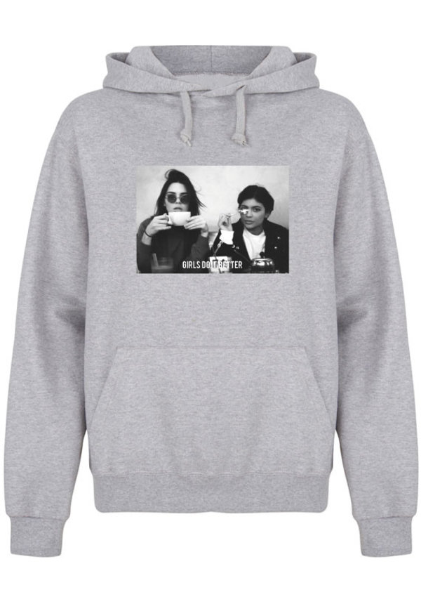 GIRLS DO IT BETTER PHOTO HOODIE GREY