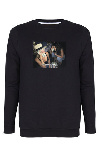 HUSTLE HARD, BABYGIRL PHOTO SWEATER