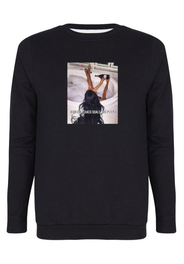 CHASE GOALS NOT PEOPLE PHOTO SWEATER