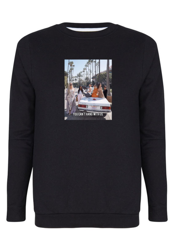 YOU CAN'T HANG WITH US PHOTO SWEATER