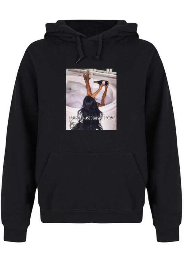 CHASE GOALS NOT PEOPLE PHOTO HOODIE