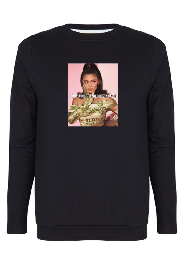 CASH ONLY PHOTO SWEATER