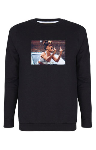 ABCDEFUCKYOU PHOTO SWEATER