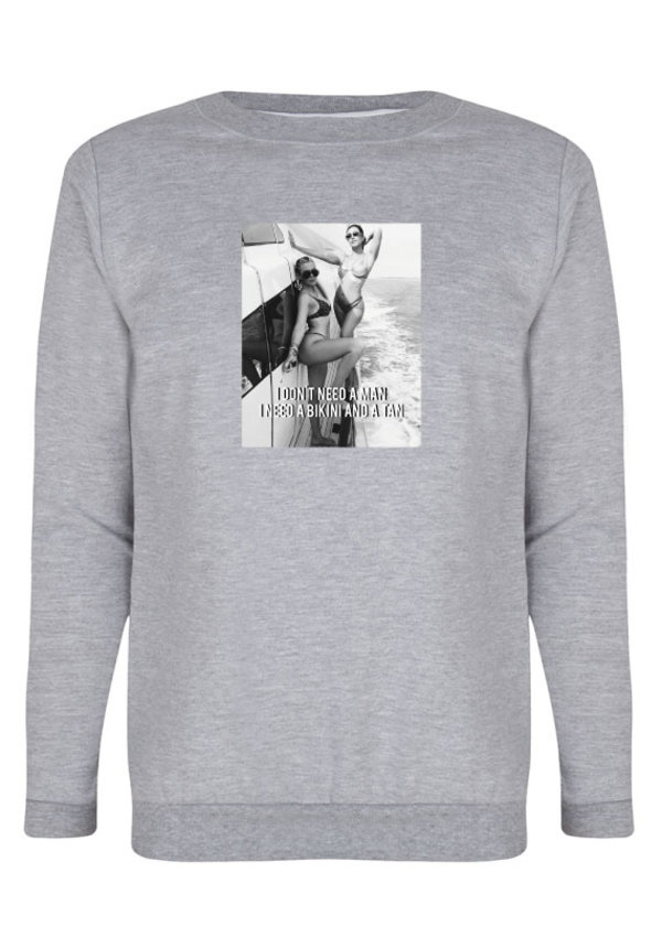 DON'T NEED A MAN PHOTO SWEATER