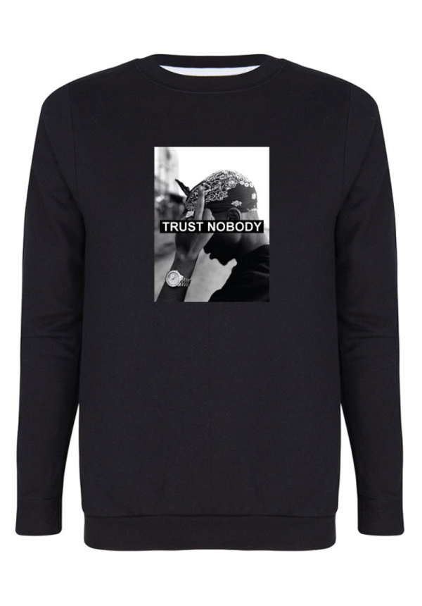 TRUST NOBODY PHOTO SWEATER