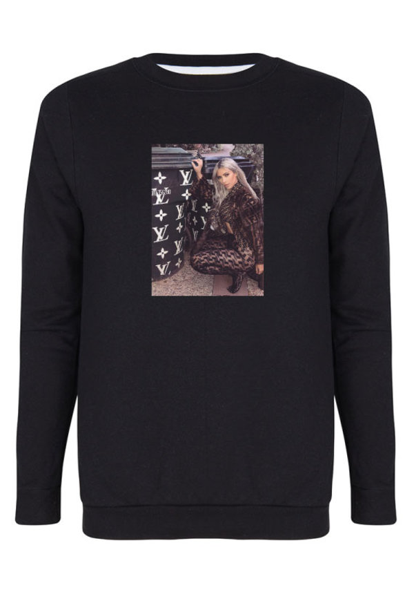 DESIGNER GIRL PHOTO SWEATER