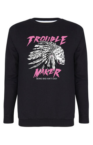 TROUBLE MAKER SKULL SWEATER