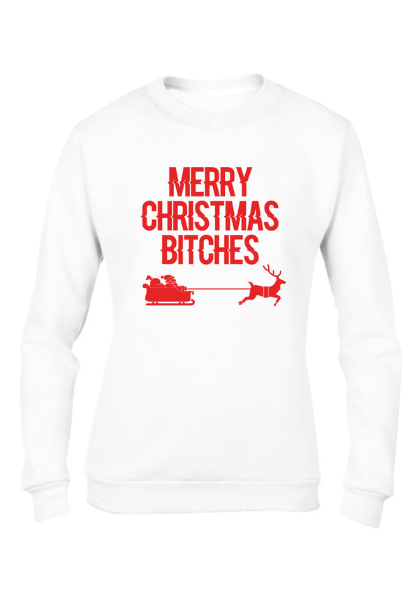MERRY CHRISTMAS BITCHES SWEATER (WMN)