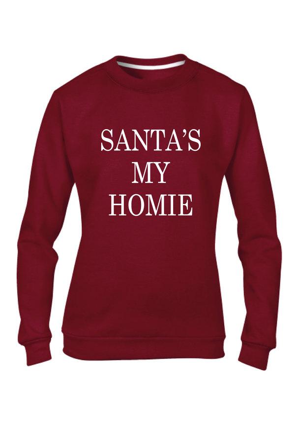 SANTA'S MY HOMIE SWEATER (WMN)