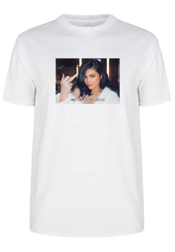 DON'T ACT LIKE YOU KNOW ME PHOTO TEE
