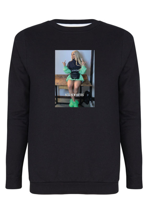NEED NEW HATERS PHOTO SWEATER