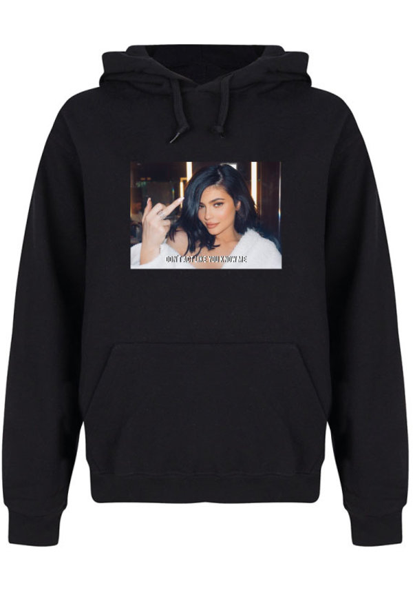 DON'T ACT LIKE YOU KNOW ME PHOTO HOODIE