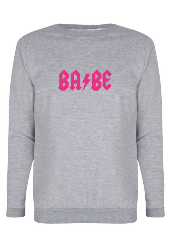 BABE THUNDER SWEATER NEON PRINT
