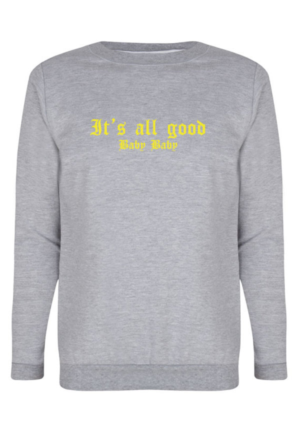 IT'S ALL GOOD SWEATER NEON PRINT