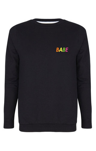 BABE SWEATER NEON PRINT