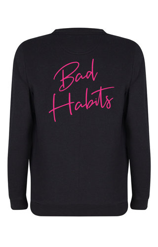 BAD HABITS SWEATER NEON PRINT